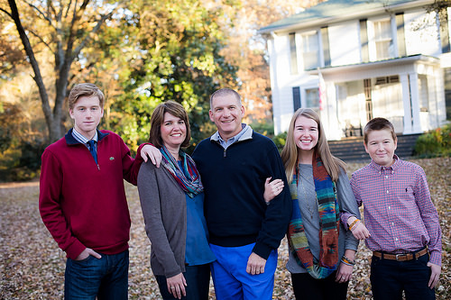A photo of Harrison with his family