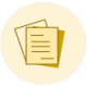 HCMI icon with two yellow papers